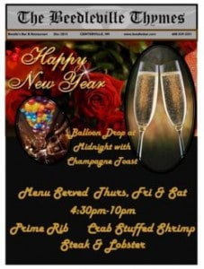 Beedles Dec, 2015 Newsletter Cover