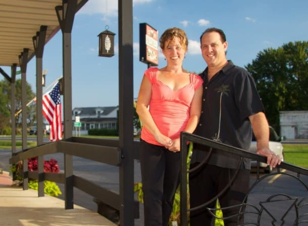 Annie and Brad, owners of Beedle's Restaurant