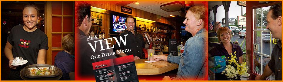 Beedles drink menu